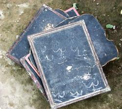 Slates used in Slum Schools.