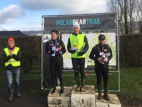 Marjolein wint Polar Bear Trail 14km voor 3e keer.