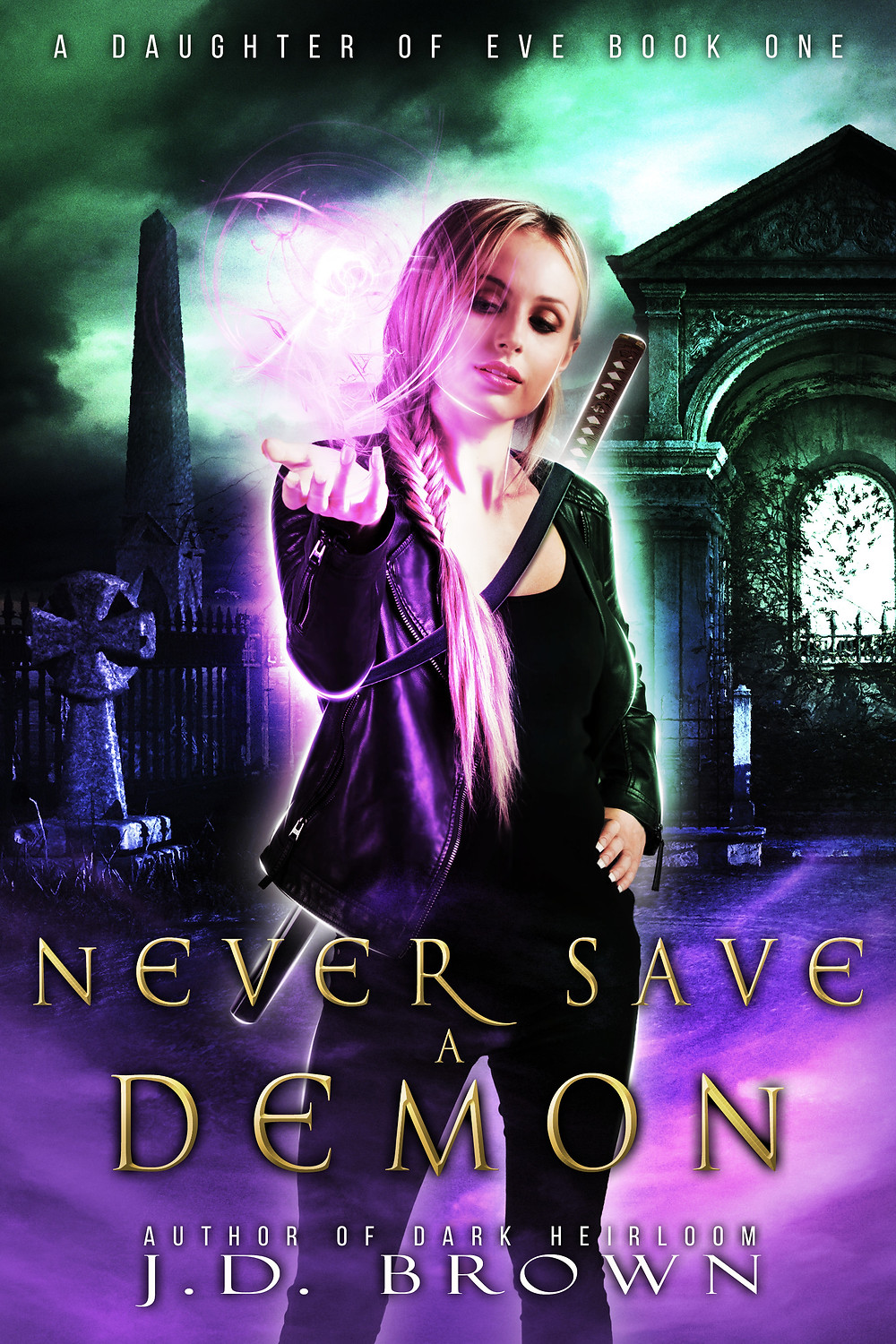 Never Save a Demon by JD Brown cover art