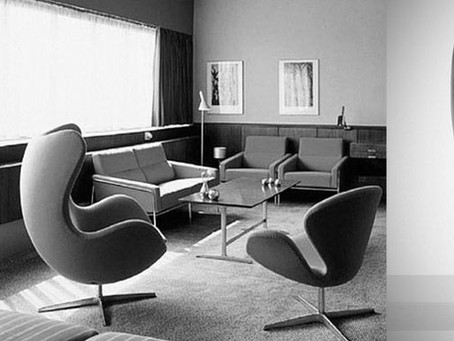"Arne Jacobsen ""ผู้ออกแบบเก้าอี้ Ant, Egg, Swan"""