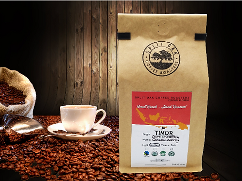 Organic Timor Roasted Whole Coffee Beans 12oz - Medium Roast