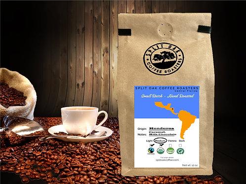 Organic Honduran Coffee Hand Roasted 12 Oz Whole Bean - Medium Roast