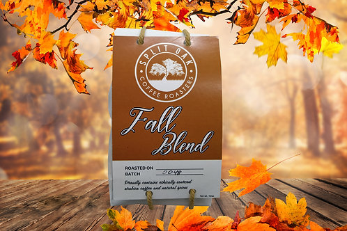 Special Coffee Fall Blend notes of chocolate, cherry and cream, hand roasted - L