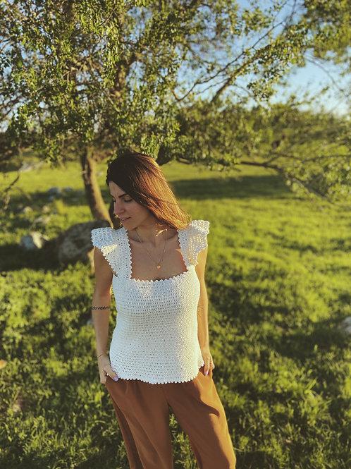 Blusa de Crochet Natural