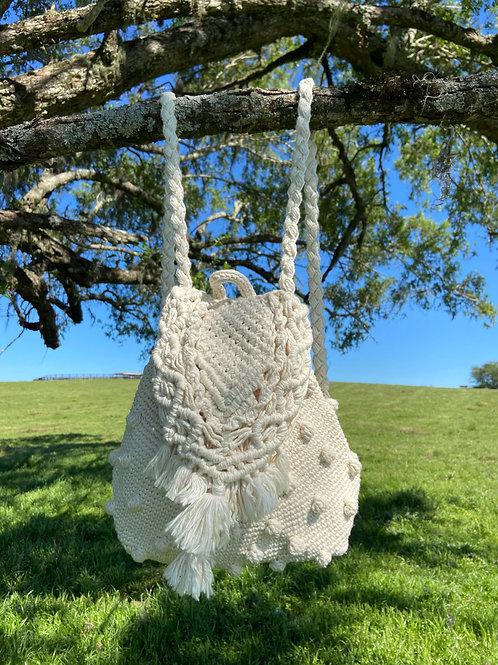 Mochila Crochet Macramê Natural