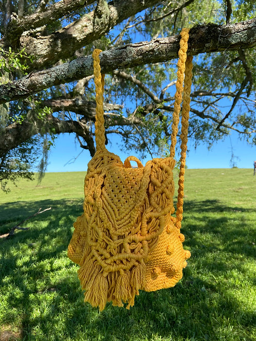 Mochila Crochet Macramê Cebola