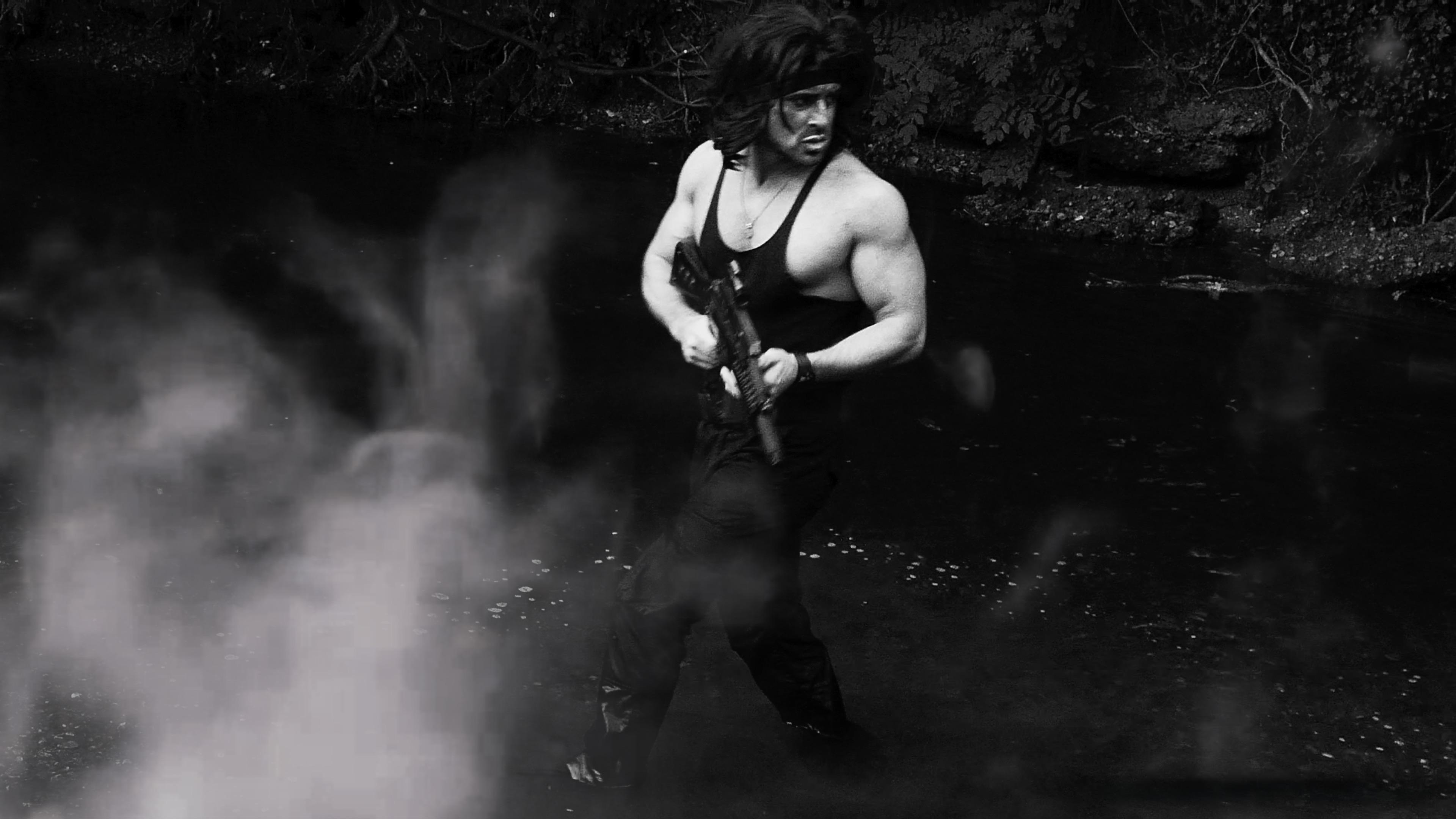 Rambo in water smoke Image 1