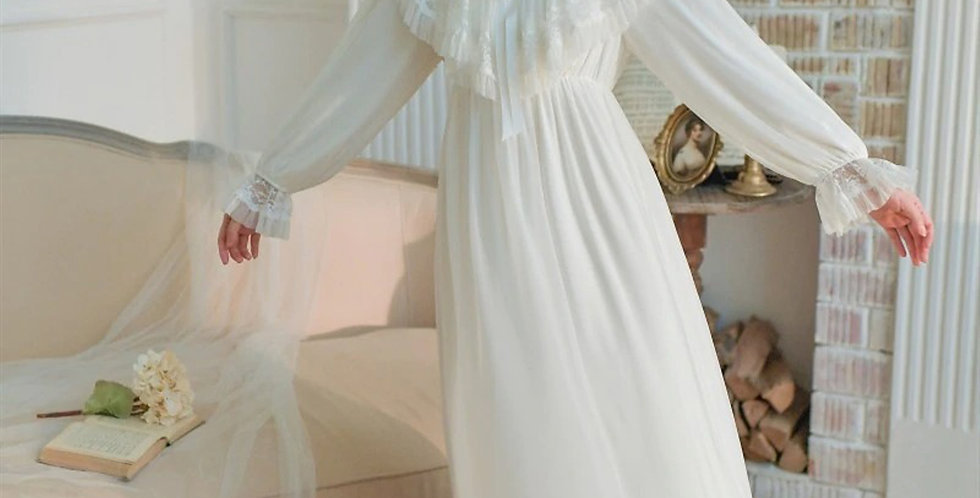 Vintage Victorian Beautiful Nightgown| Edwardian Old  Beautiful French Nightgown