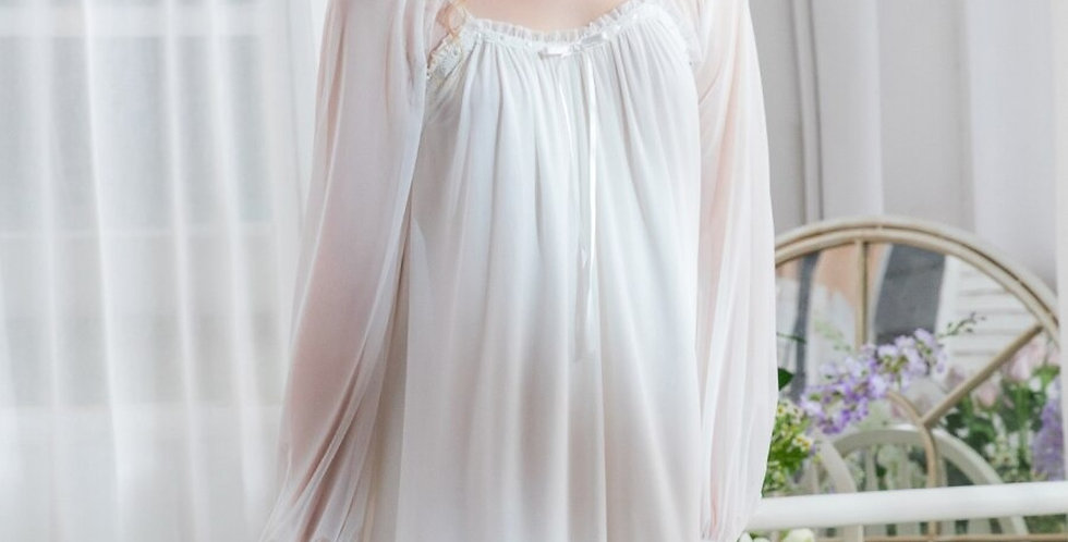Vintage Victorian Cotton Nightgown,Bridal Cotton Nightgown Loungewear For women