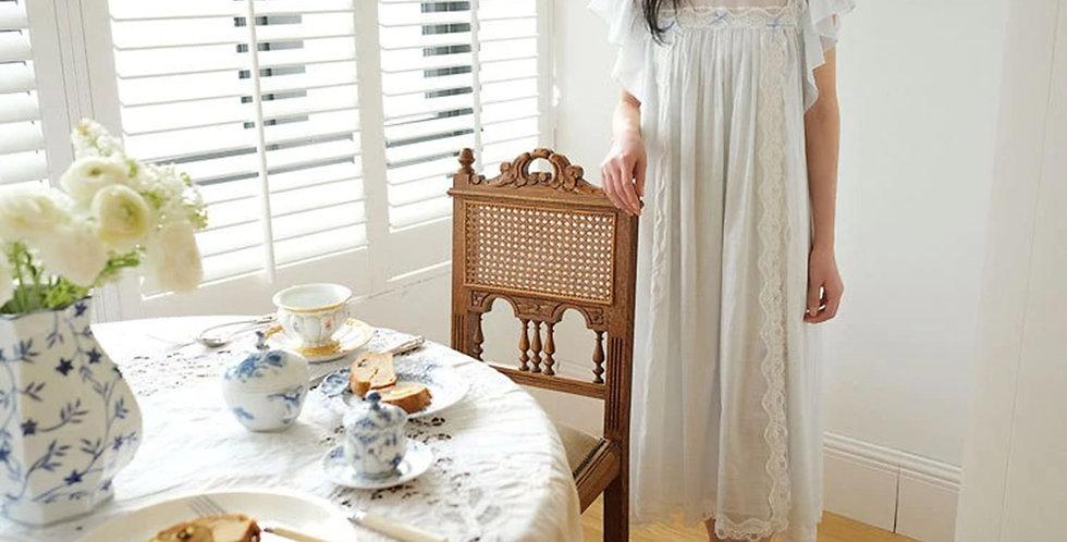 Vintage Victorian Cotton Beautiful Nightgown,Chemise Edwardian Comfy Nightwear