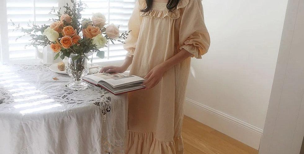 Cotton Vintage Nightgown,Edwardian Renaissance Luxurious Nightgown, Comfy Gown