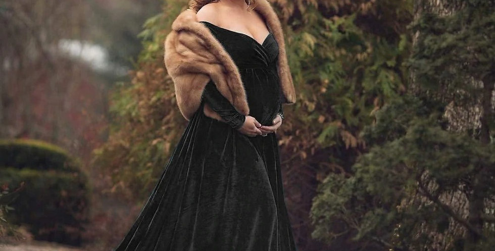 Beautiful Off shoulder Maternity Photoshoot Outfit, Sexy Long Baby Shower Gown