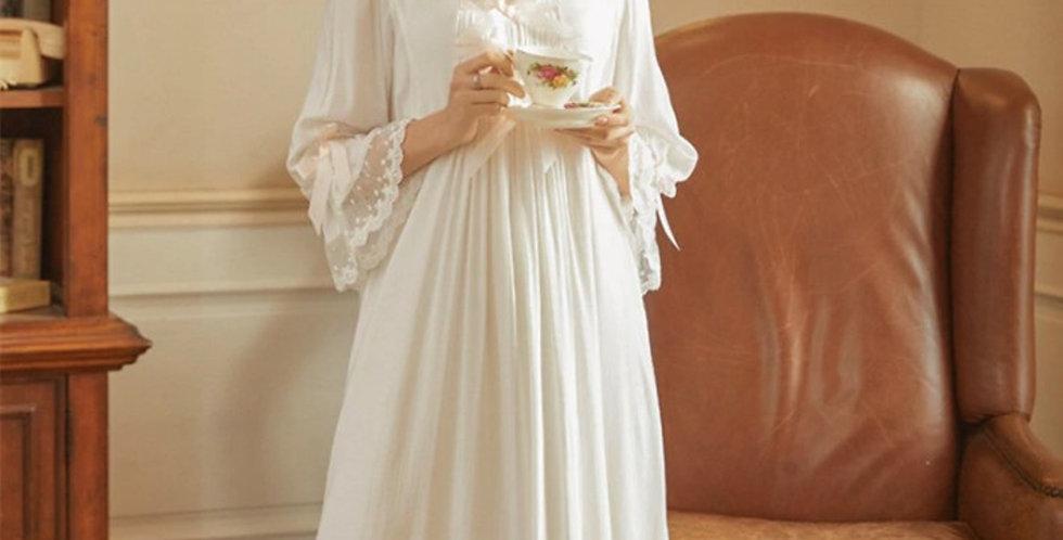 Vintage Style Breastfeeding Maternity Gown,Beautiful Edwardian Nursing Nightgown