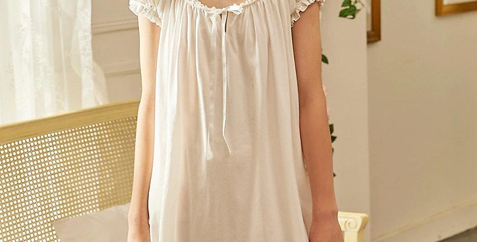White Cotton Vintage Victorian Nightgown,Edwardian Chemise Beautiful nightgown