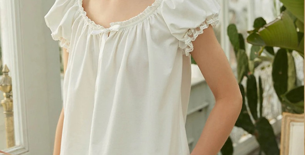 Spring Autumn Vintage Pajama For Women,Comfortable Loungewear Nightwear For Wome