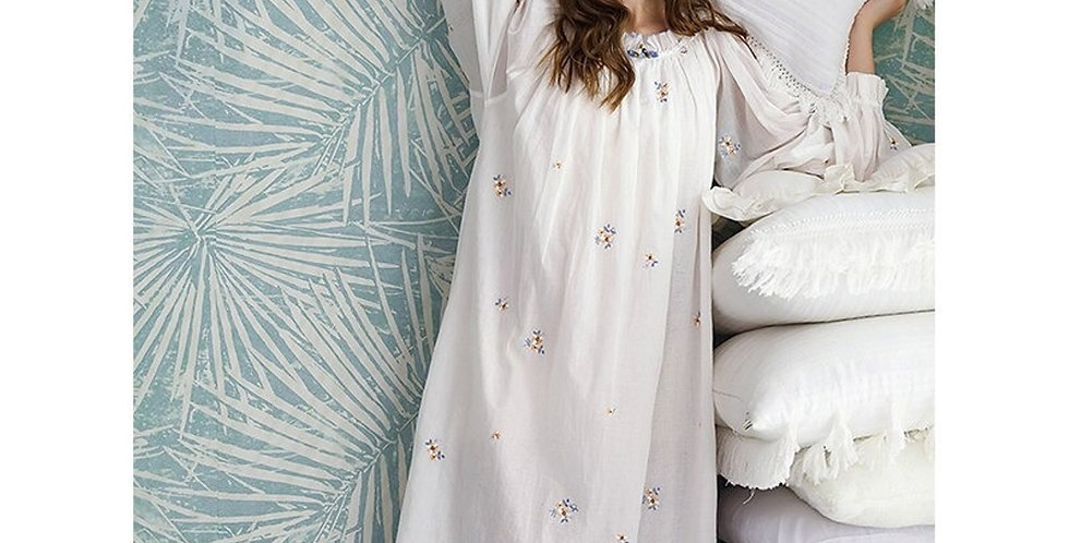 Plus Size Summer Pajama Nightgown For women,Long White Cute Spring Nightgown