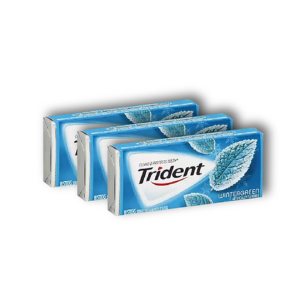 Chicle Trident Wintergreen TriPack