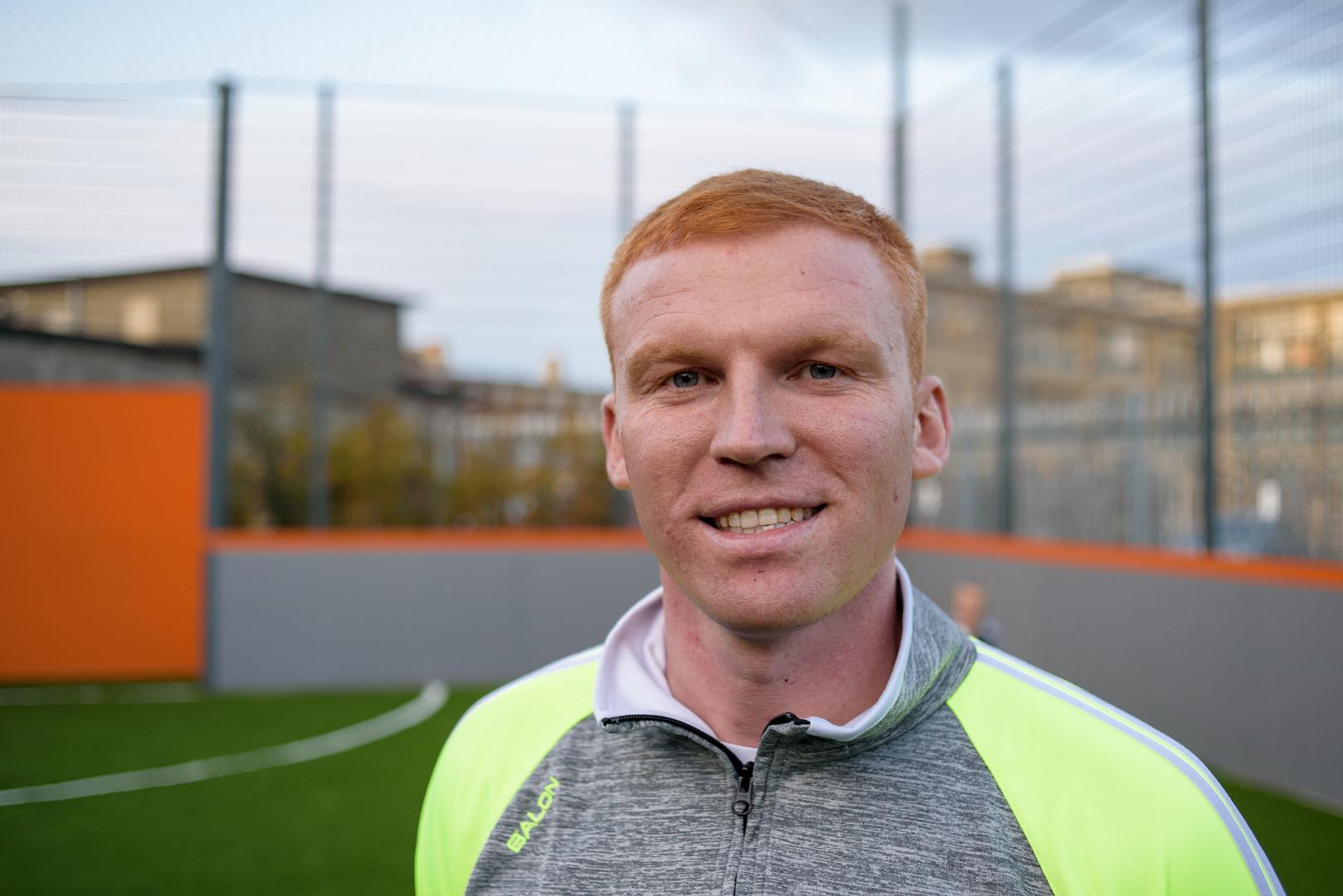 Adam Mitchel – Founder & Coach of the Little Maestros Football Team – St Catherine Sport Center