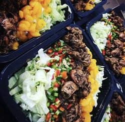 Salade de boeuf teriyaki