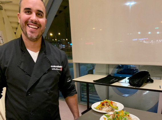 Notre chef qui offre aussi des cours à l'école culinaire du Provigo