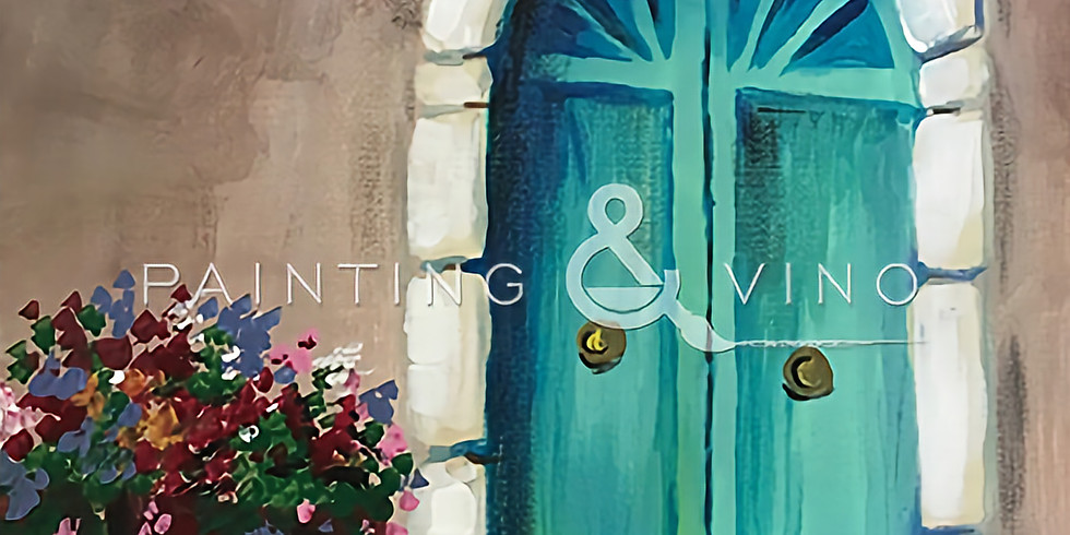 """Painting and Vino with Susie """"La Puerta Azules"""""""