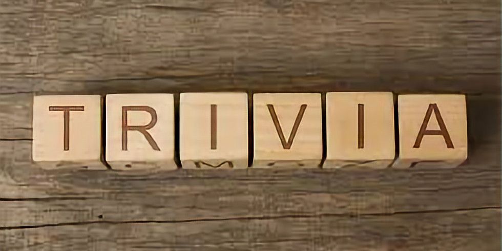 NEW Trivia Game hosted by Sunset Trivia - EVERY TUESDAY EVE 7PM