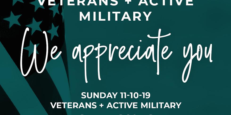Veteran Appreciation Day - Sunday November 10th