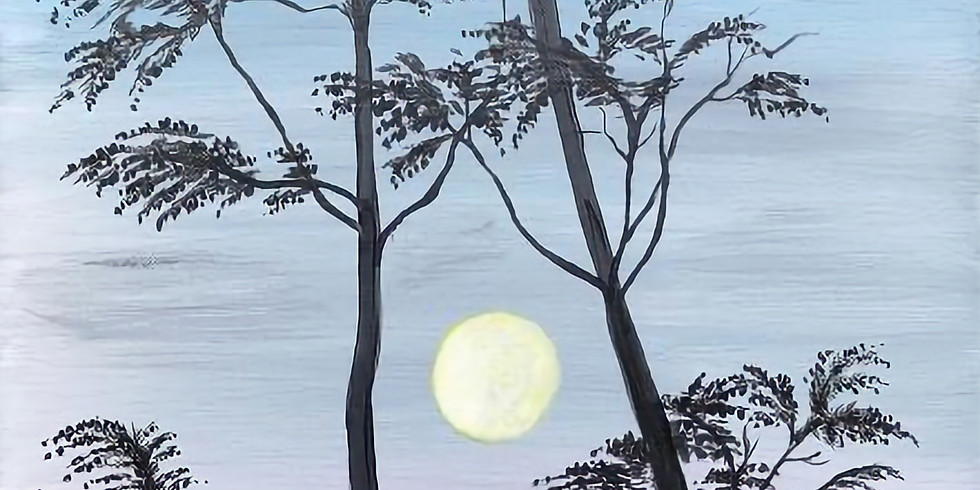 """Painting & Vino with Susie """"Moonset"""""""