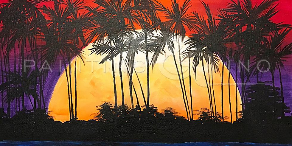 """Painting and Vino with Susie """"Tequila Sunrise"""""""