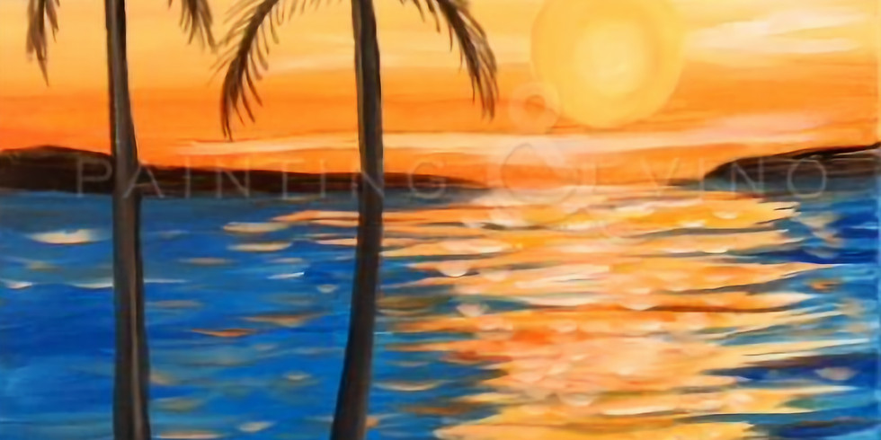 """Sip & Paint with Susie - """"Island Sunset"""""""