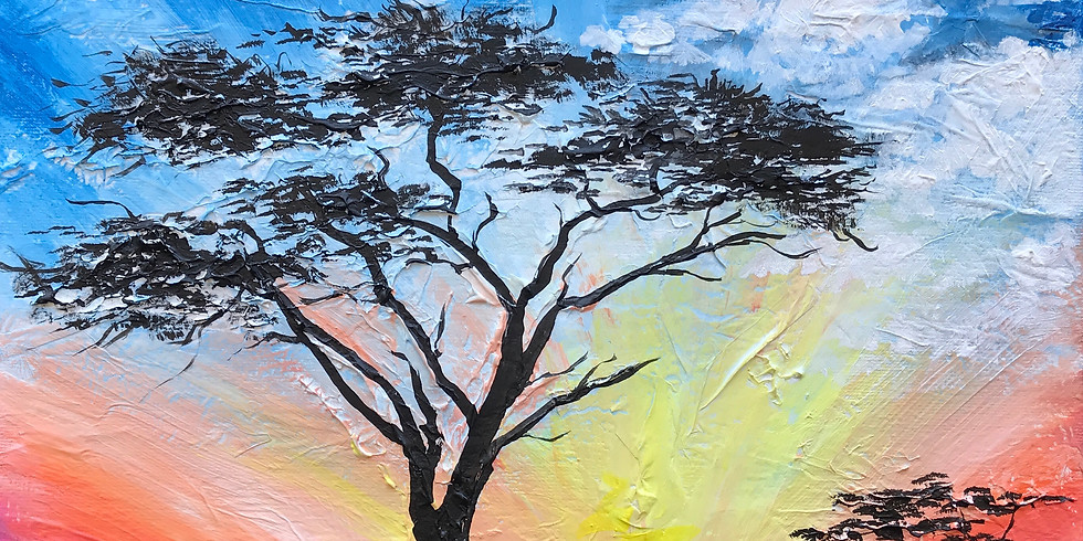 """Painting & Vino with Susie """"A New Day"""" Register at paintingandvino.com"""