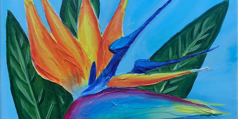"""Painting & Vino with Susie """"Bird of Paradise"""""""