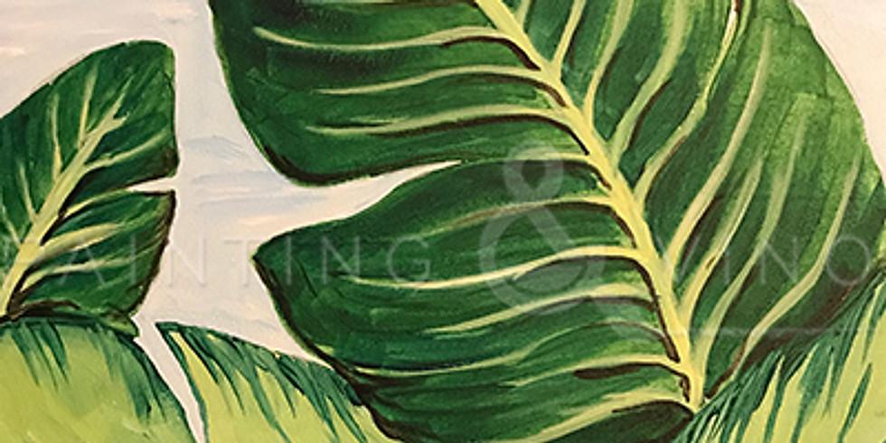 "Painting & Vino with Susie ""Tropical Palms""  Register at paintingandvino.com"