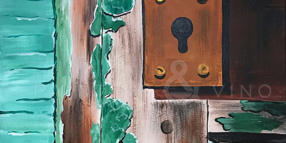 "Painting and Vino with Susie ""Unlock to Explore"" Register at paintingandvino.com"