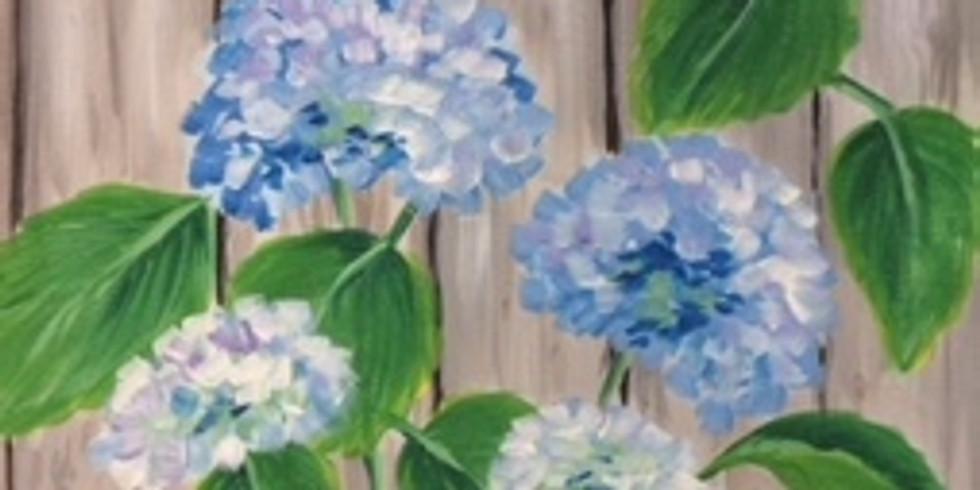 "Sip & Paint with Susie ""Blue Hydrangeas"" (1)"