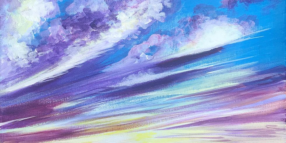 "Painting & Vino with Susie ""Kona Sunset""  Register at paintingandvino.com"