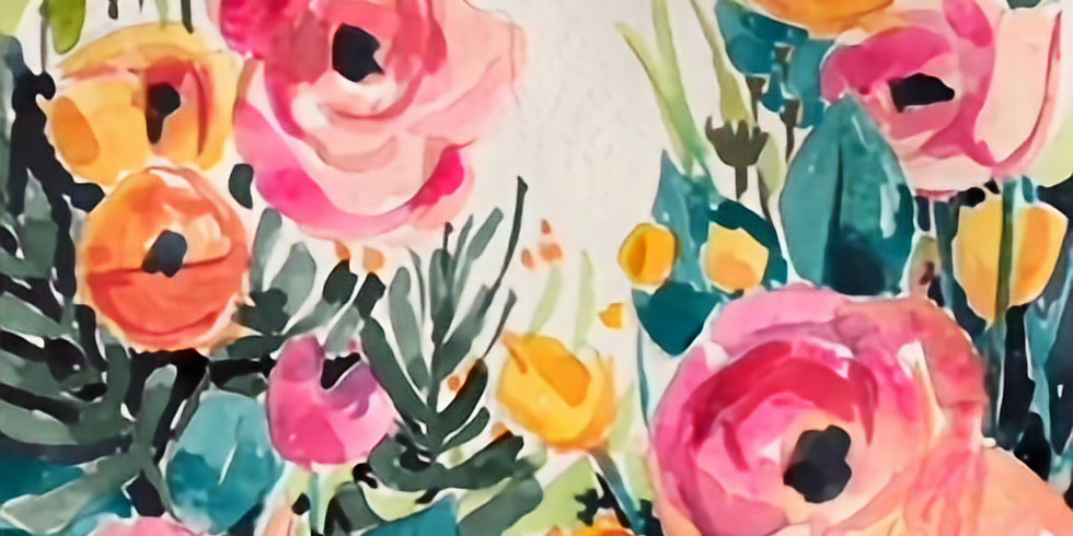 """Wine & Watercolor with Lindsey """"In the Garden"""" (1)"""