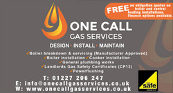 One Call Gas Services Web Banner