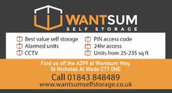Wantsum Self Storage Large Web Banner