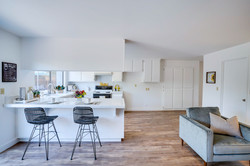 Family Room with Adjoining Open Kitchen