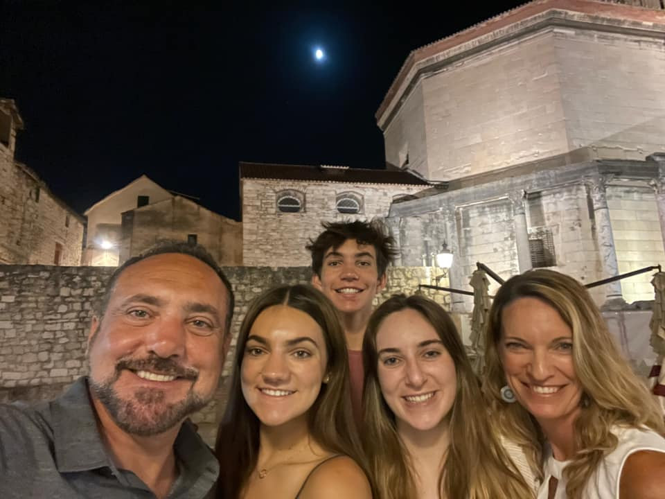 The Kamali family at the palace in Split.