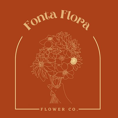 Bouquet Drawing Sticker