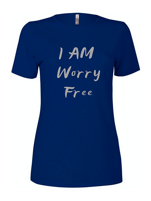 I AM WORRY FREE SCOOP NECK TEE FOR WOMEN