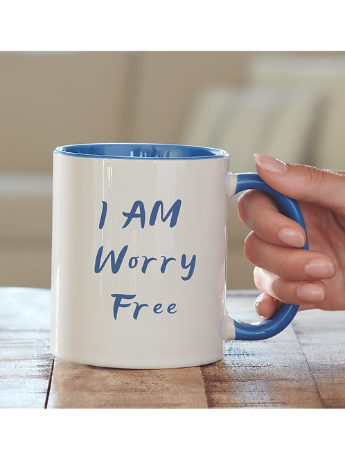 I AM WORRY FREE COFFEE MUG