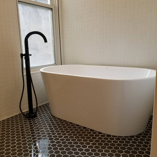 tub and fixture installation