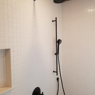 Shower and fixture installation