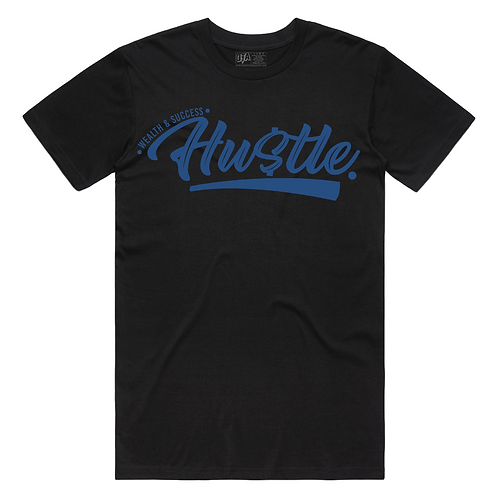 Hustle Tee (Black/Royal)
