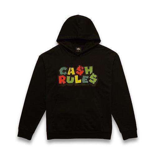 Cash Rule$ Hoodie Black