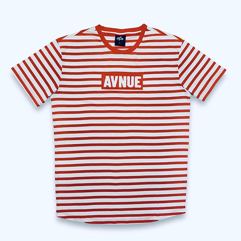avenue stripe shirt red
