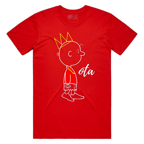 King Charlie Tee  Red